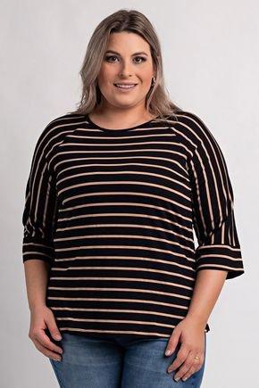 2163 blusa feminina plus size visco listrada ki beleza 3