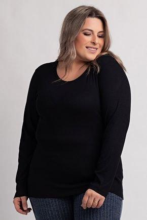 2154 blusa feminina plus size ribana canelada gola redonda ki beleza 3
